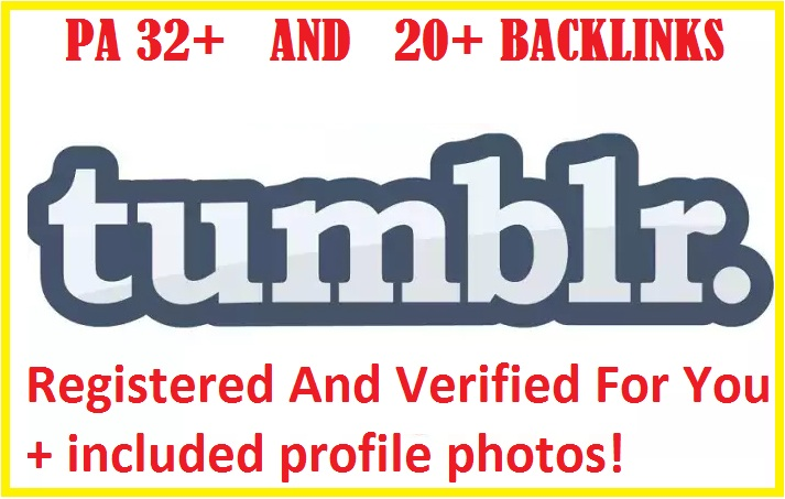 Get 5 Expired Tumblr PA32 With 50+ Backlinks Registered