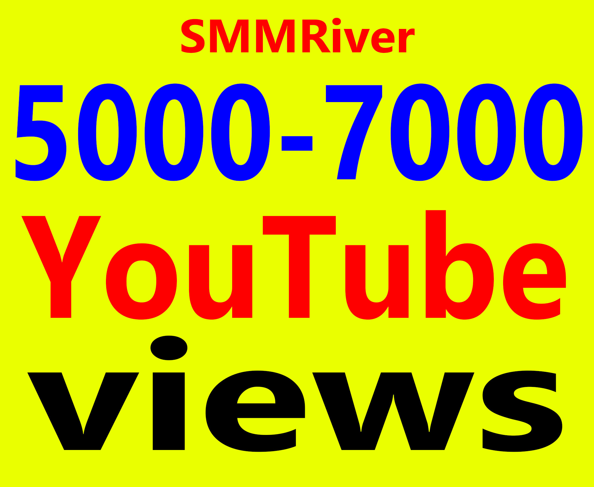 Fast 5000 To 7000 Views High Retention 99% Ad-sense Safe and Non Drop