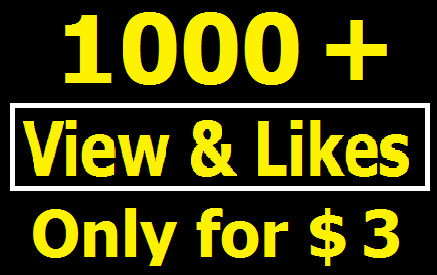 Bumper offer 1000+ High Quality YouTube View and Likes