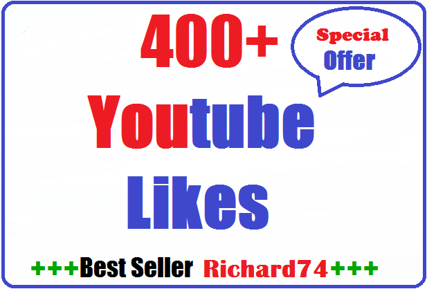 400+ youtube likes very fast 4-8 hours complete just