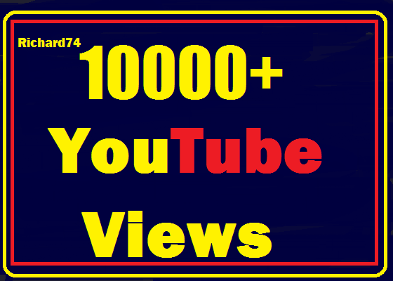 Instant start 10000+ Youtube Views High Quality safe,non drop very fast just