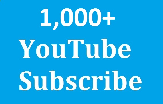 Guaranteed 1,000+ yout'ube subs'cribers Non Drop And Safe & split Available & super fast in complete just