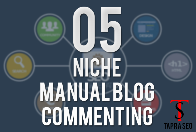 Niche Relevant Themed 5 manually Blog comments