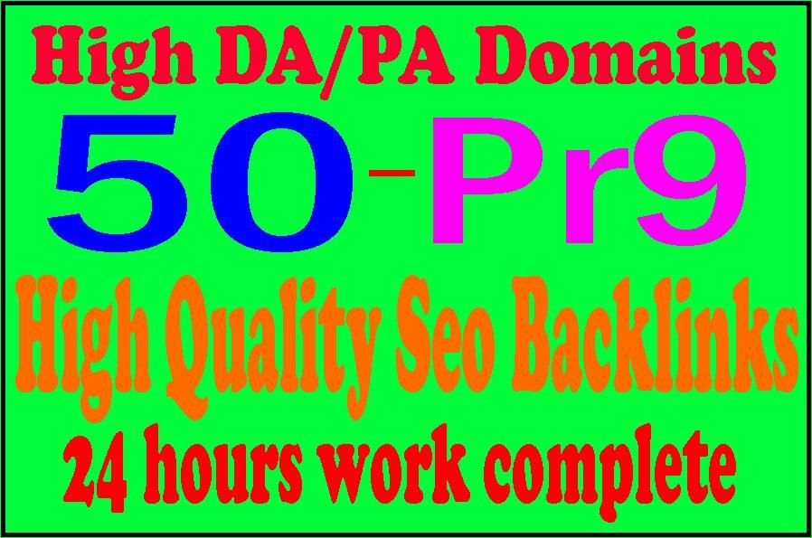 Manually Make 50 Pr9 High Domains Authority Safe Seo Backlinks - White Hat Seo