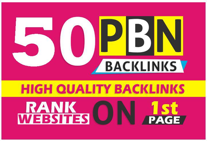 Get you 50 high DA/PA and TF/CF homepage pbn backlinks post