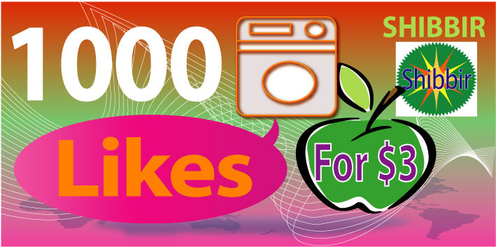 Add over 1,000 High quality targeted LIKES or Video Views
