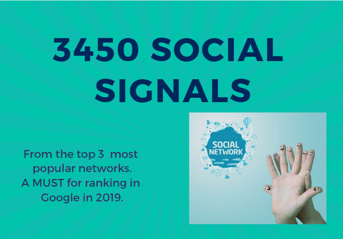 I will provide 3450 social signals from the top 3 networks