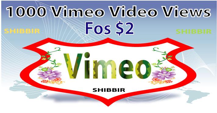 add 1000 vimeo video views