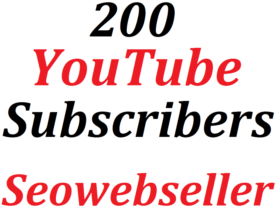 guaranteed 200+ youtube Subs'criber refill Guaranteed super fast delivery time 5-6 hours