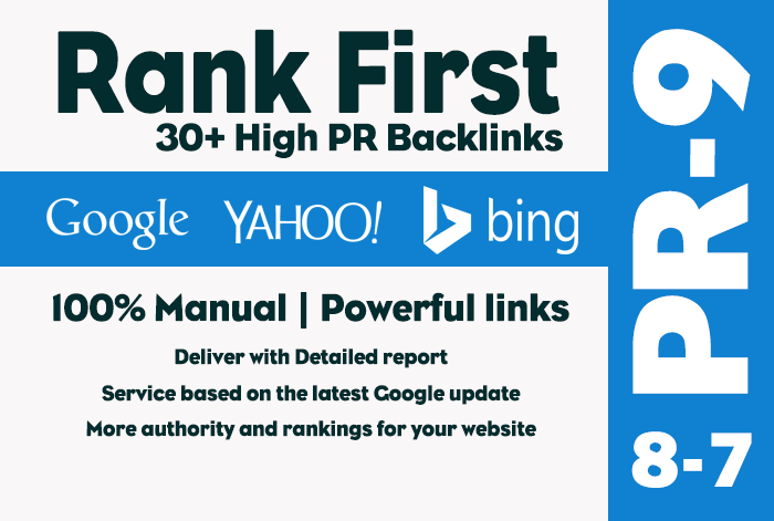 40 high PR backlinks rank your website on Search results