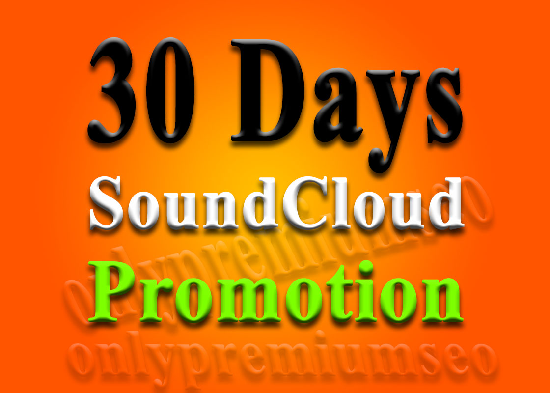 get SoundCloud plays for 1 month