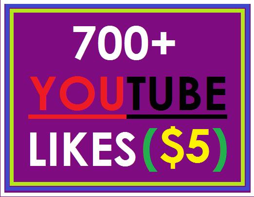 700+ Genuine quality likes Youtube video