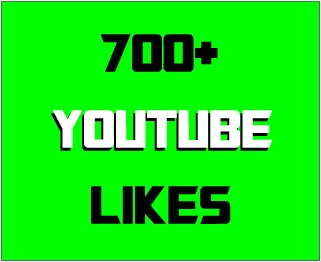 700+ Real & Non-drop YouTube likes with 10 custom comments
