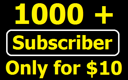 Guaranteed 1,000+ Non drop YouTube Channel Subscriber