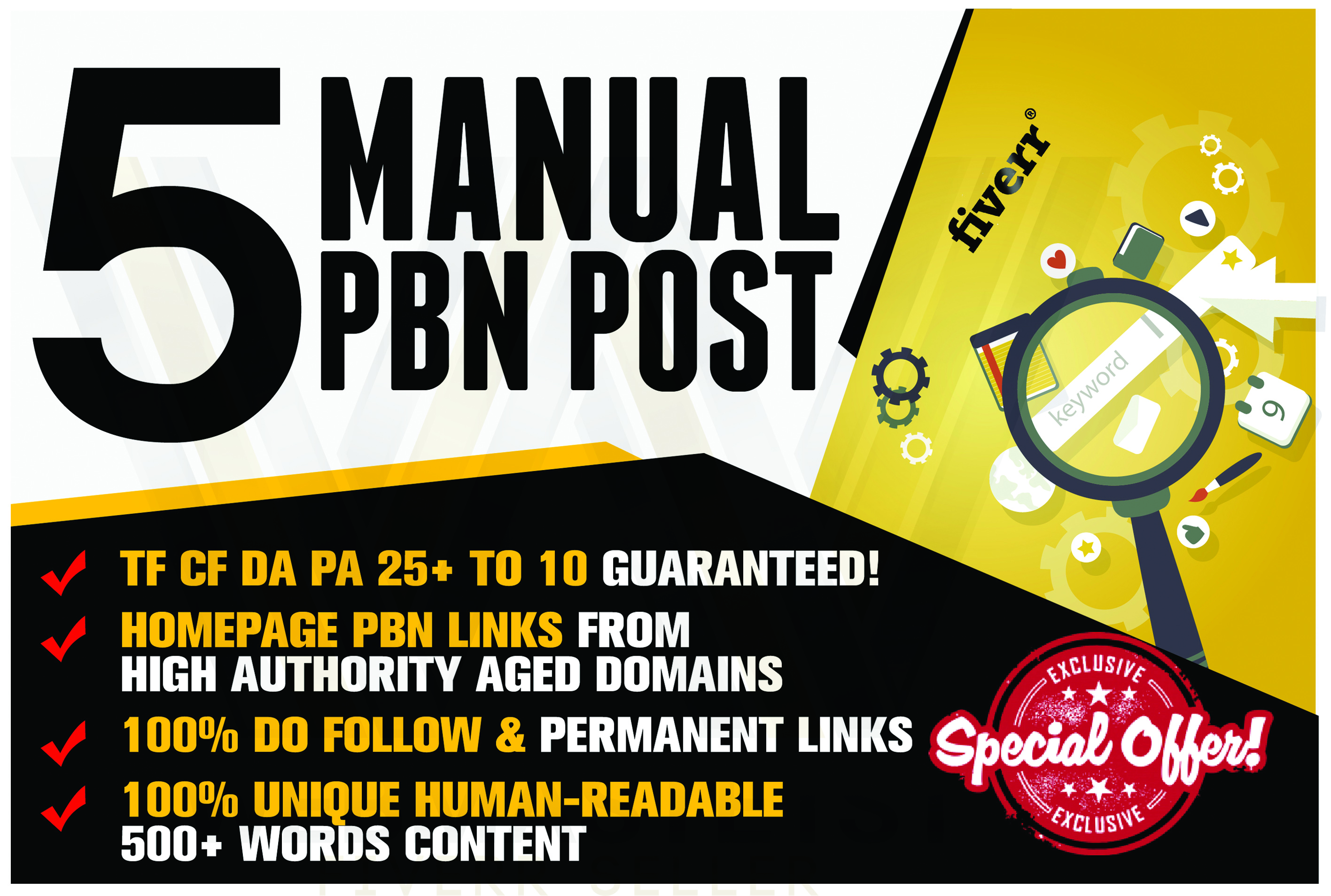 Build High quality 5 PBN links Introductory offer