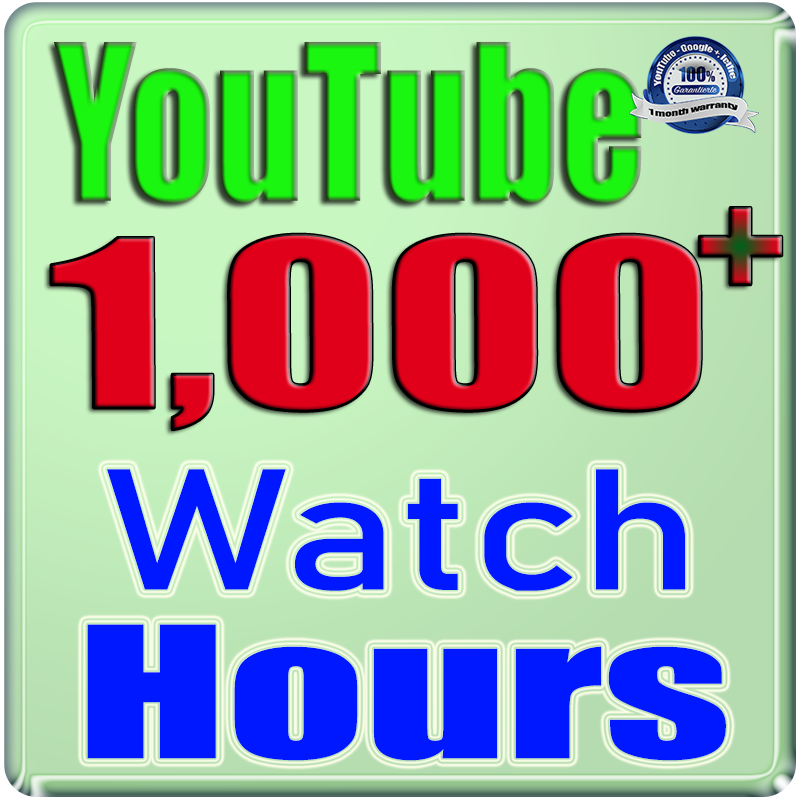 We Will Add 1000+ YouTube Watch Hours and Views For Your Video Channel,  Safe Fast and Non Drop