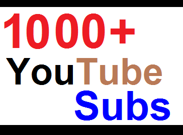 REAL 1000+ YouTube Subscribers / non drop / 48 hours