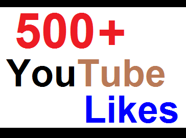 REAL 500+ YouTube Likes / 12-24 hours