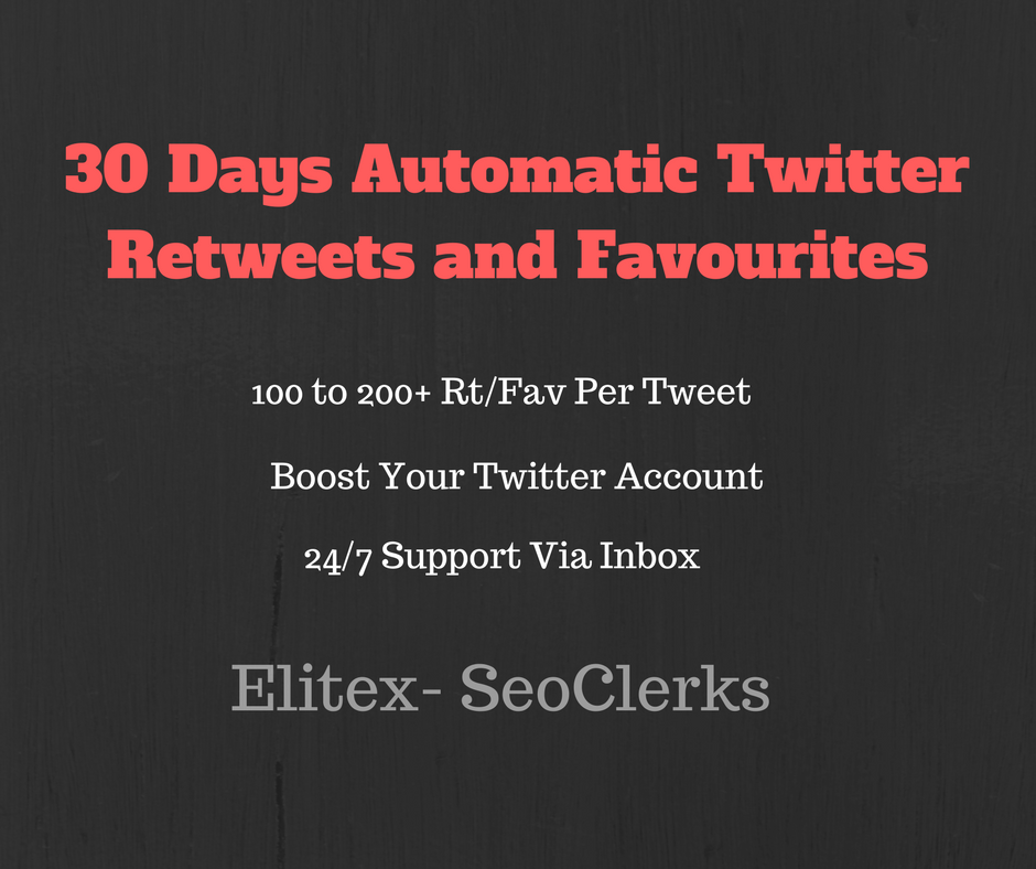 Automatic Twitter Re-Tweets and Favourites For 1 month