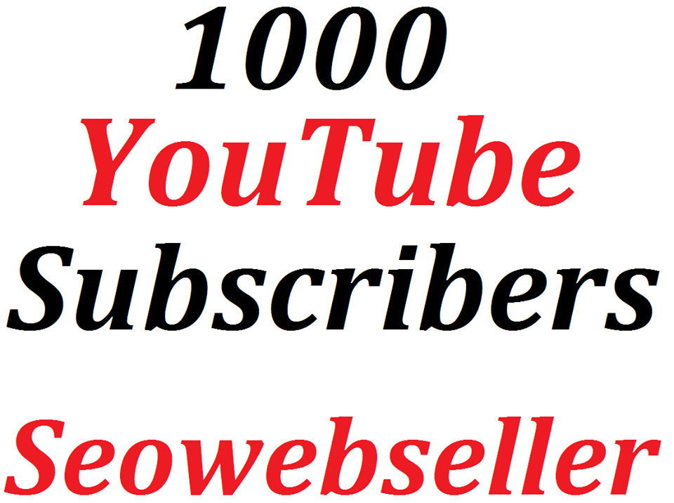 Limited Offer 1,000 Non Drop YouTube Channel Subscribers lifetime  Refill Guarantee