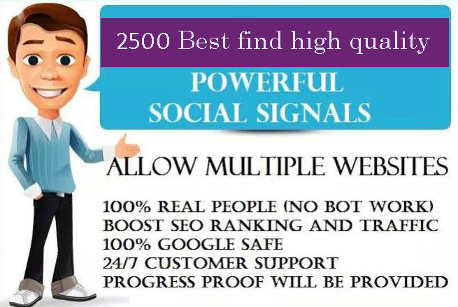 5,000 PR9 Social Signals Monster Pack from the BEST Social Media website