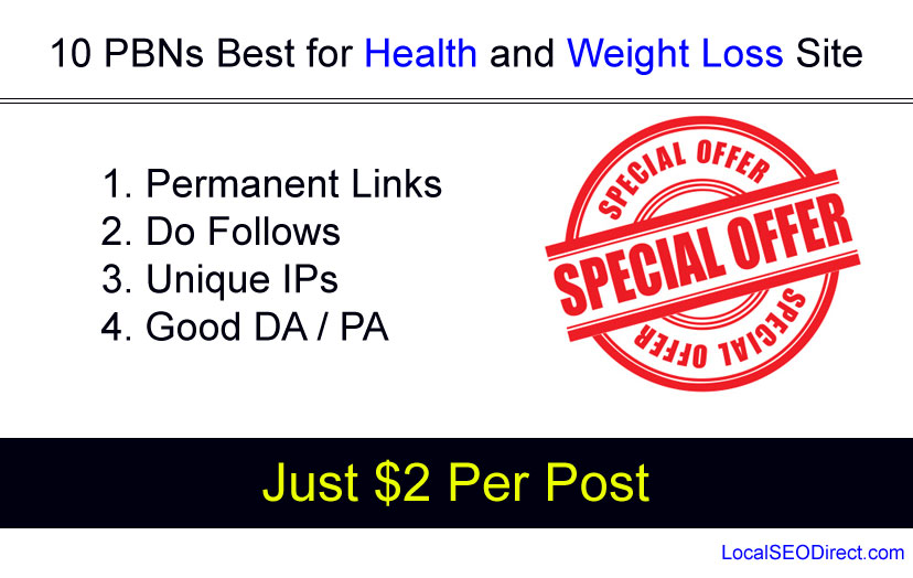 5 Permanent Backlinks from Our Health Niche PBNs