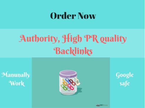 Make Authority,  High PR,  Quality Profile Backlinks for You