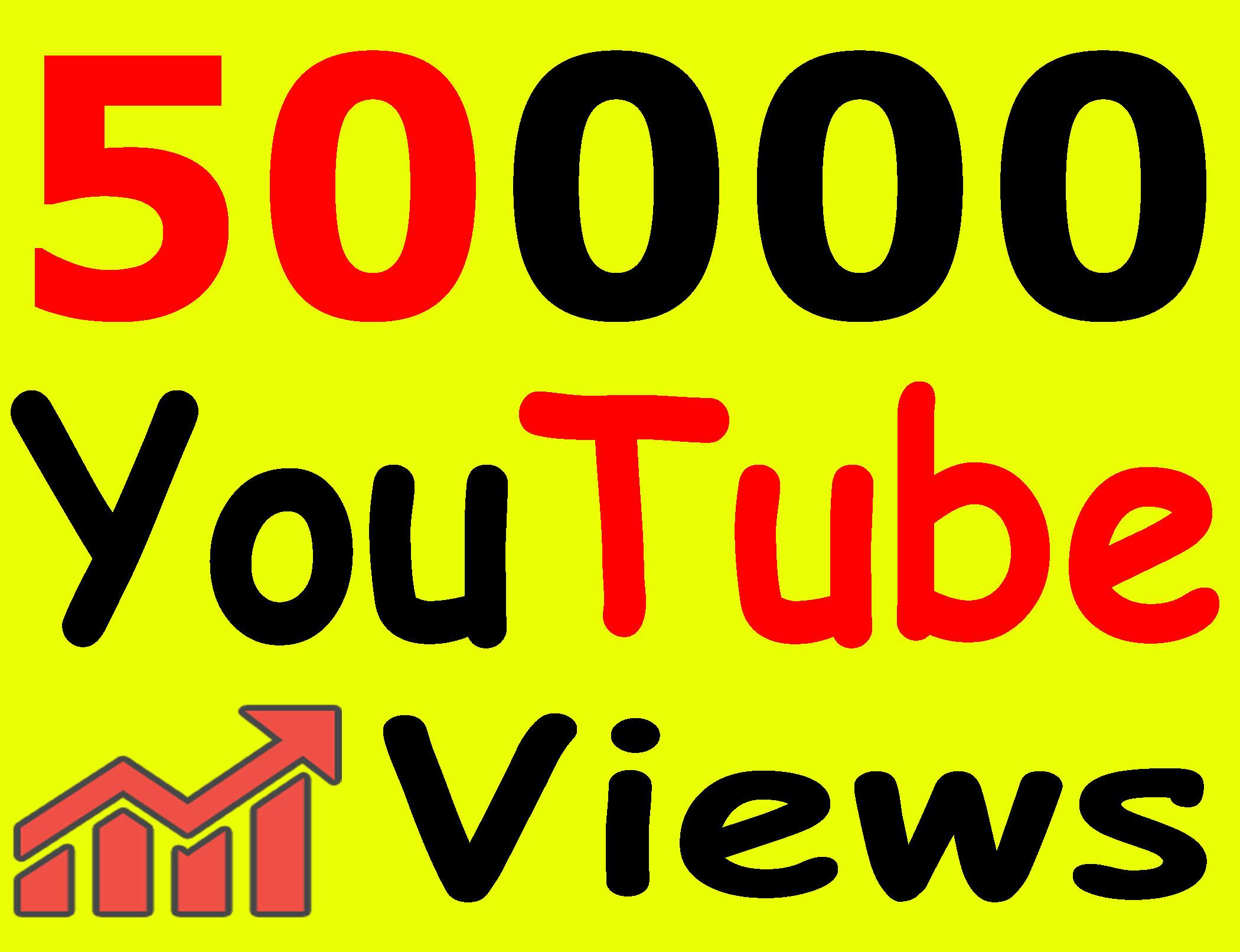 Give 50,000+ Vi ews Full Retention Safe Lifetime Guarantee with bonus Li kes
