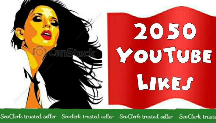 2050+Youtube likes Non Drop 12-48 Hours