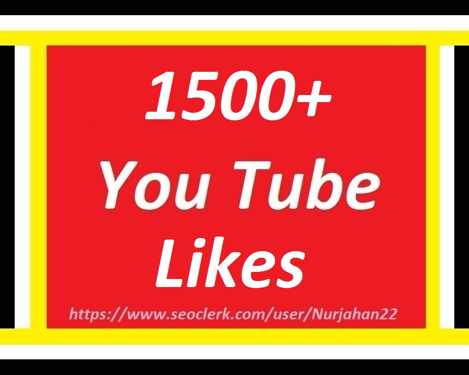 Happy New Year Offer  1500+YouTube likes 12-24 Hours in Complete