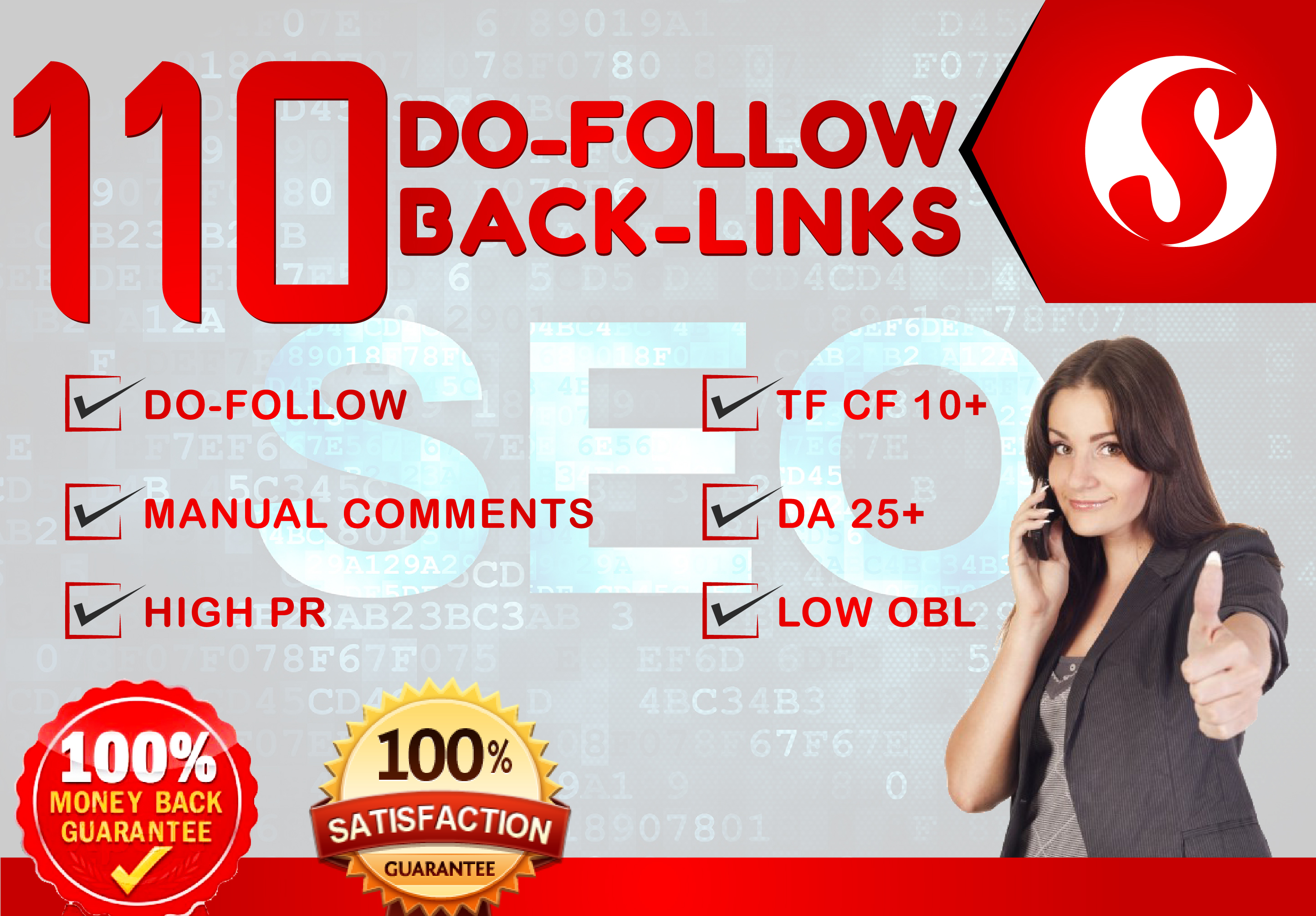 do 110 high pr 2 to 7 backlinks with low obl tf/cf 10+ and da 25+