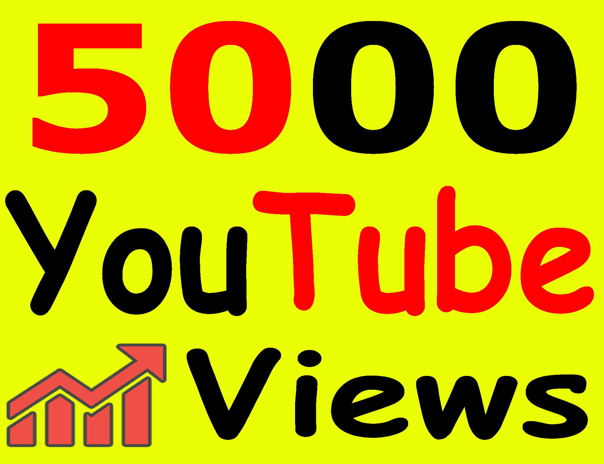 Give 5,000+ Views High Retention 90 To 99% Non-Drop Lifetime Guarantee