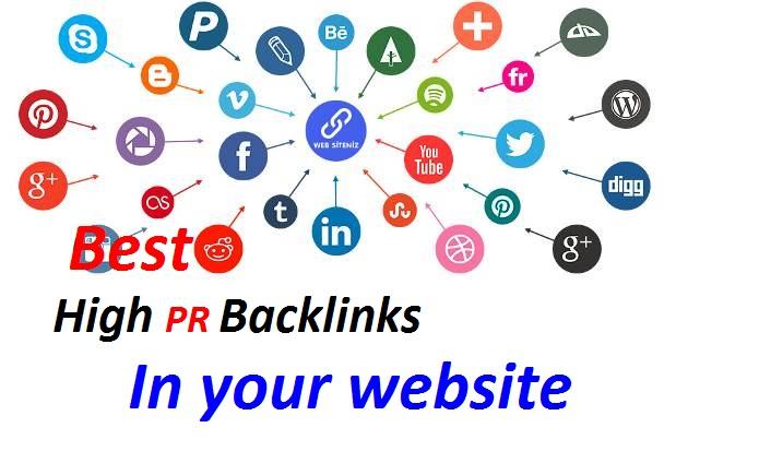 Create best high PR 20 Backlinks