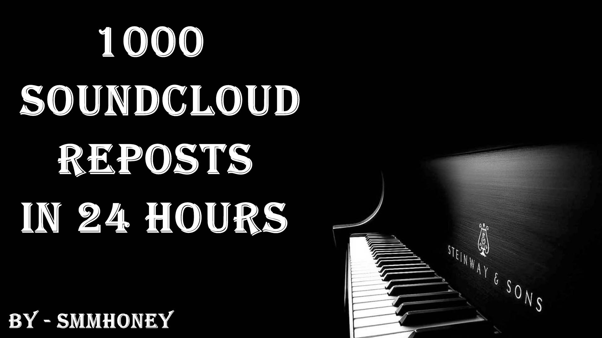 give u 1000+ sound cloud reposts