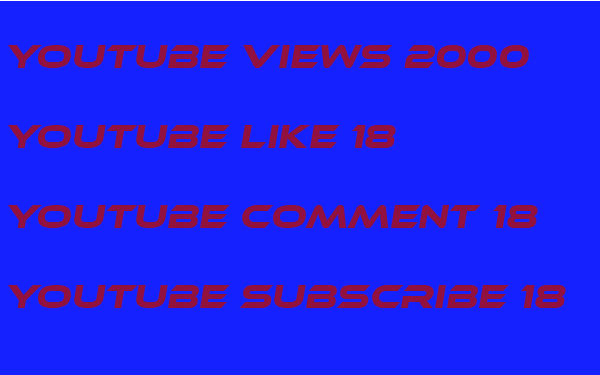 I provide 1200 youtube viwes+ 22 YouTube custom comment +22 like  +22 Subscri... in your YouTube video increse video ratings