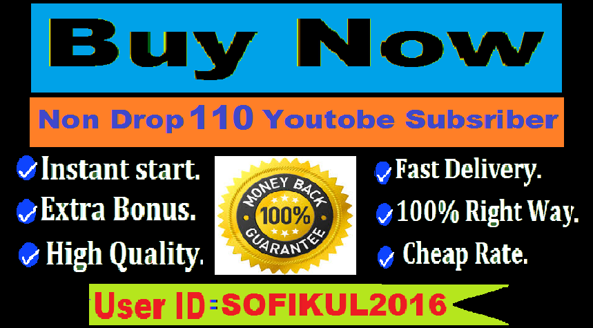 Brand Service 110 Youtube Subscribers only