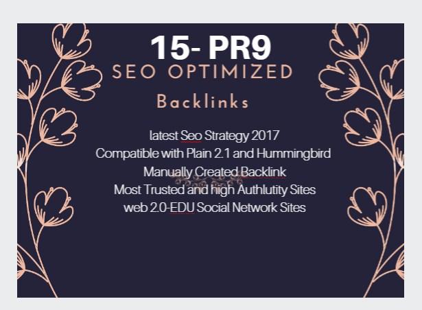 Manually Create 50 Pr4 to Pr9 DOFOLLOW Seo Backlinks for