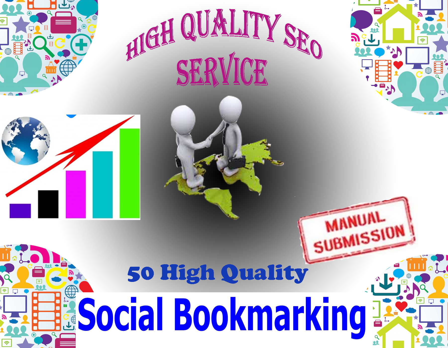 I Will Create Manually 30 High PR Social Bookmarking,  Backlinks To Website Improving