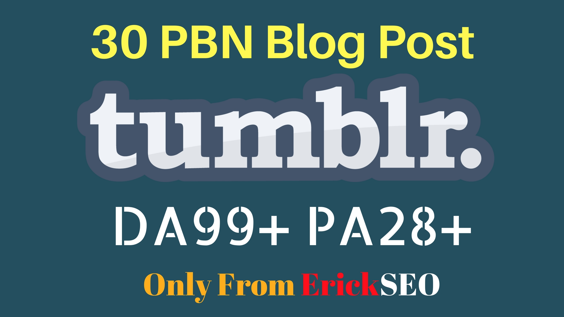 30 High DA98+ PA 28+ Tumblr Backlinks With high Quality Content