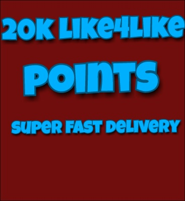 20k like4like points super fast delivery