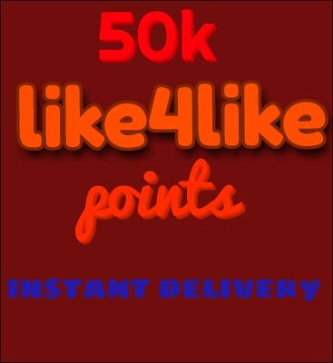50k like4like.org points instant delivery