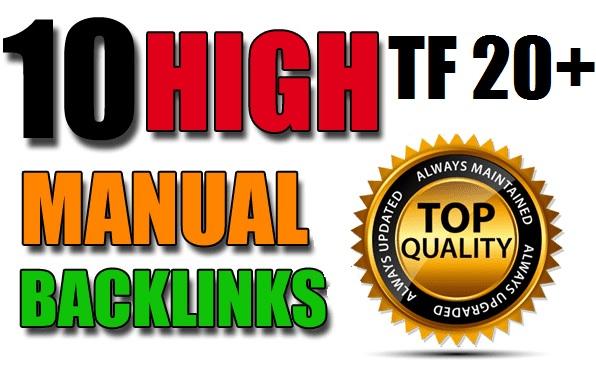 10 PBN Backlinks On TF 20+ All MANUALLY Done