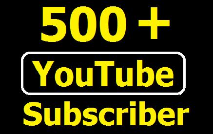 Manually Add 500+ Non drop YouTube Subscriber or 1000+ Likes