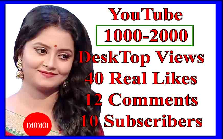 Instant 1000 Lifetime_Monetizable views +40 Likes+12 Comments+8 Subscribers