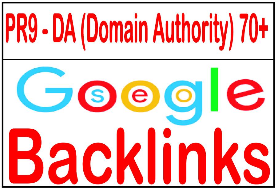 70+ R9 - DA Domain Authority Highly Authorized Google Dominating Backlinks