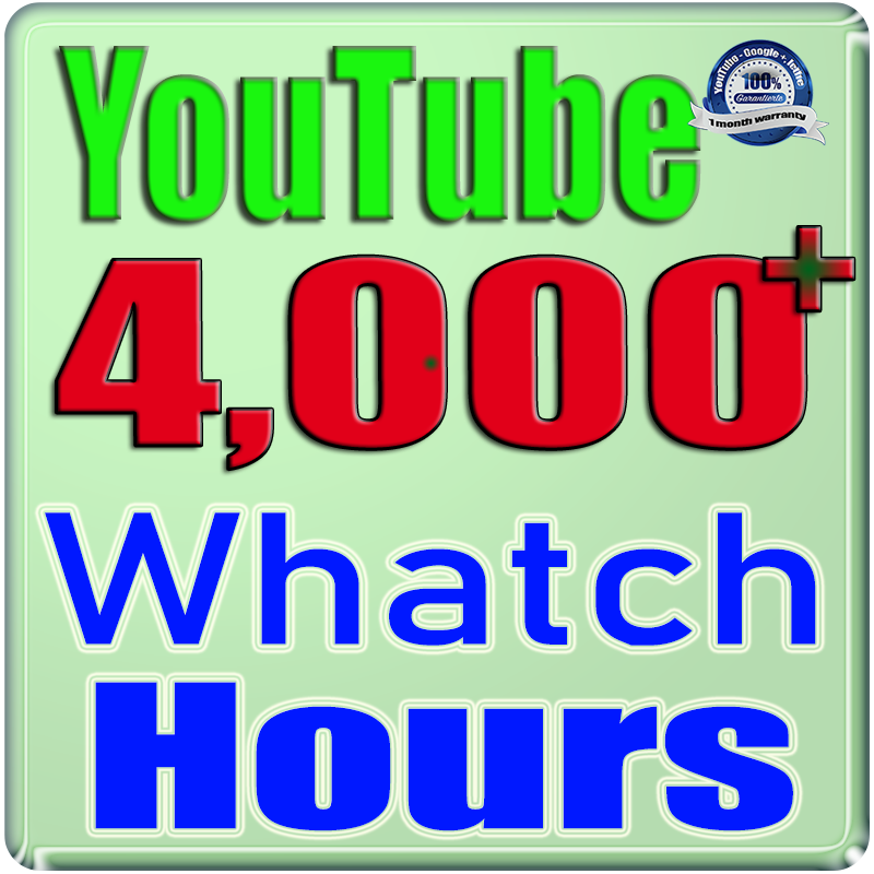 We Will Add 4000+ Watch Hours For Your YouTube Channel,  Safe Fast and Non Drop