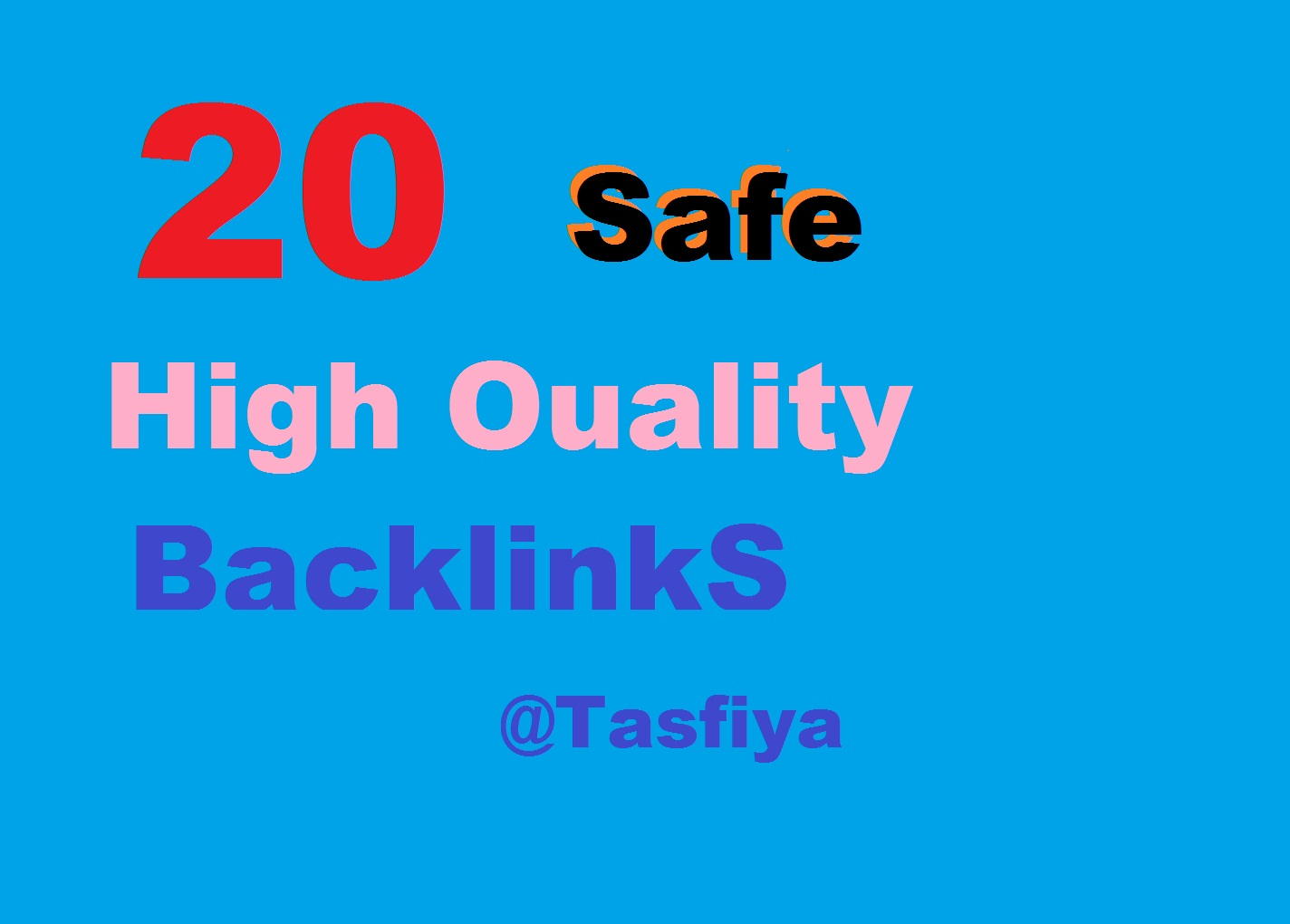 Get 20 High Quality Back links for your Site
