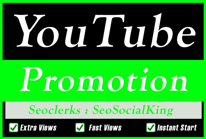 Organic High Retention YouTube Video Promotion Seo marketing