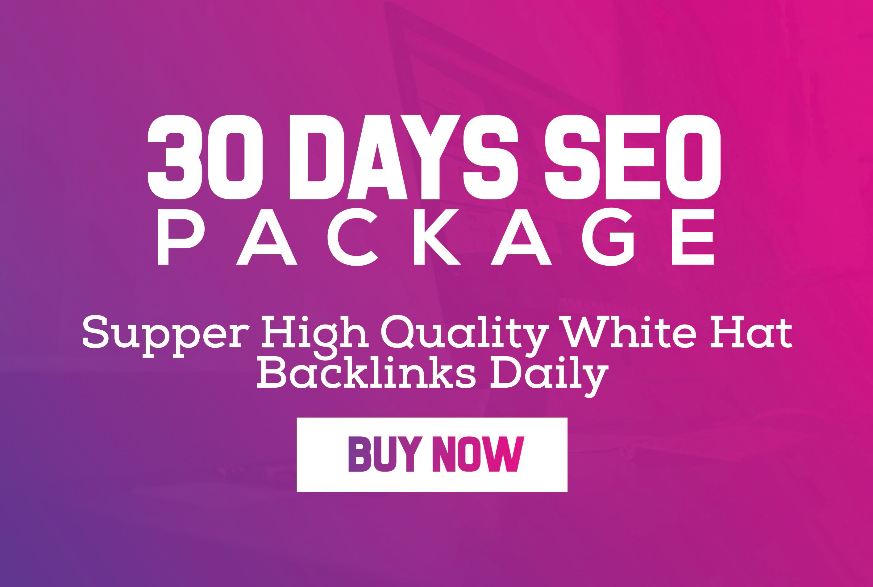 """Buy 2 get 1 free "" 30 Days Link building daily White Hat SEO Package 2018 with PBN web.2.0 business and more just"