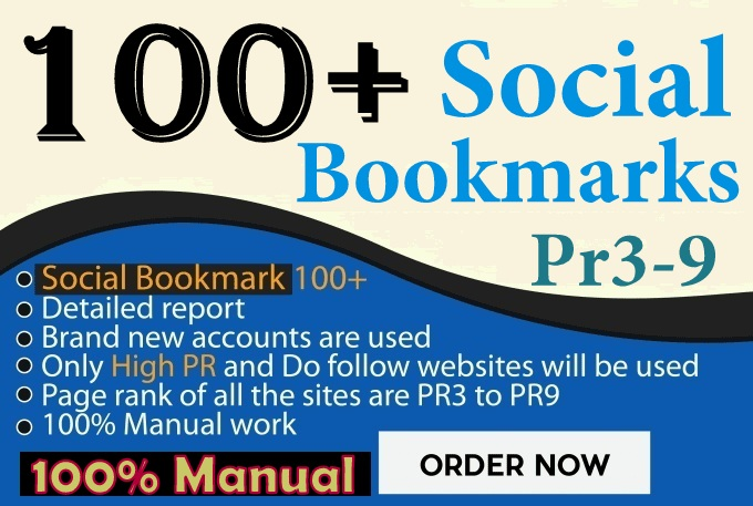 do 100+ Manual TOP Social bookmarking for website/youtube video Backlinks